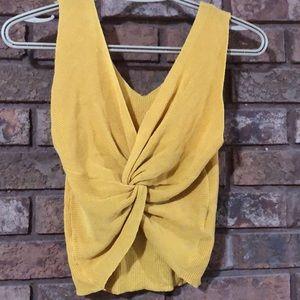Oak & Fort mustard tie knot tank❤️New listing!
